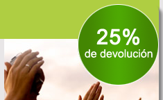como conseguir el 25% devolucion disfrutamaspormenos