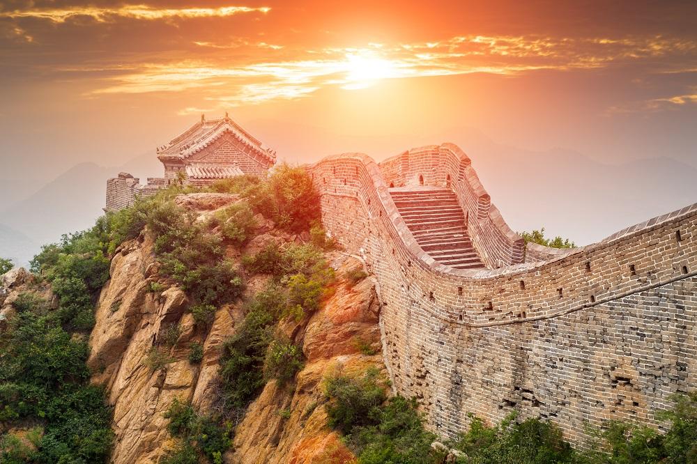 la gran muralla china en la tarde